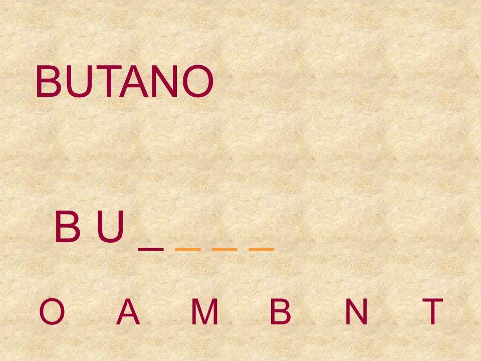 BUTANO UOMBNT B _ _ _ _ _