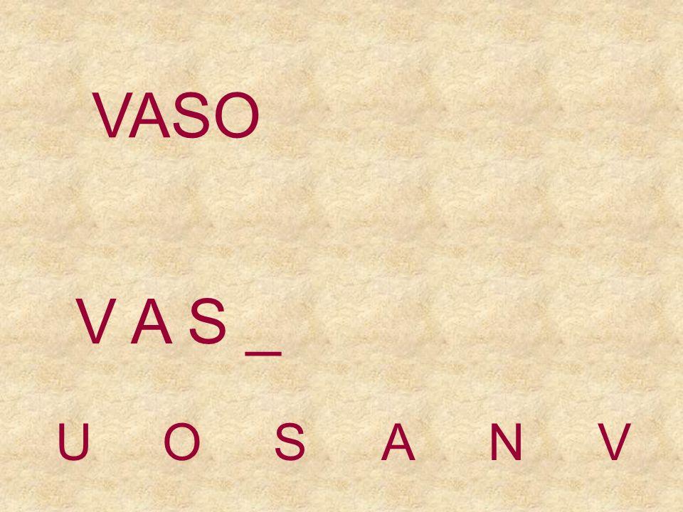 UOSANV V A _ _ VASO