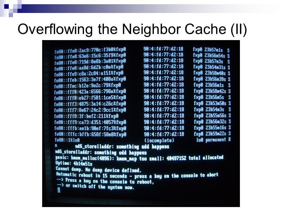 Overflowing the Neighbor Cache (II)