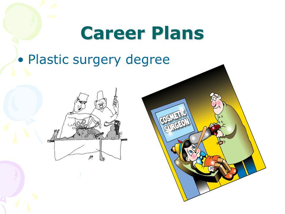Career Plans Plastic surgery degree