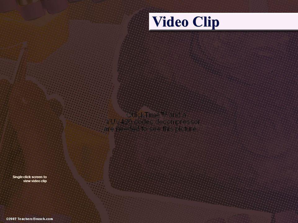 Video Clip Single click screen to view video clip