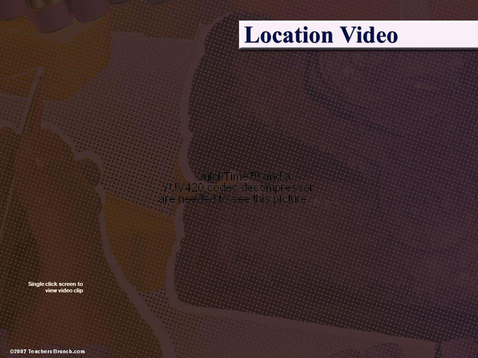 Location Video Single click screen to view video clip