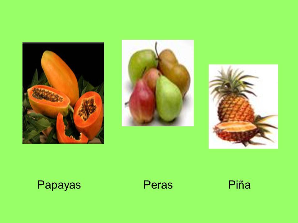 Papayas Peras Piña