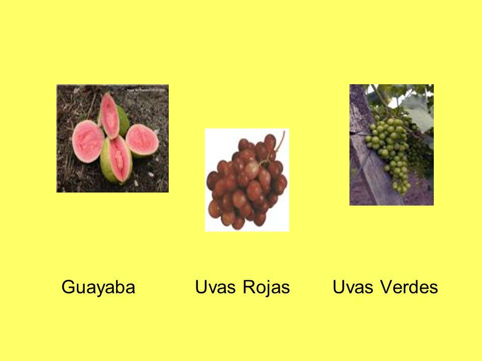 Guayaba Uvas Rojas Uvas Verdes
