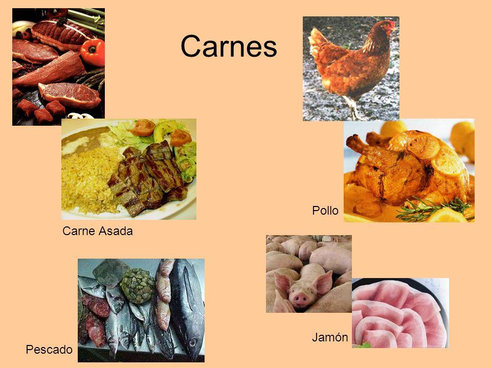 Carnes Carne Asada Pescado Pollo Jamón