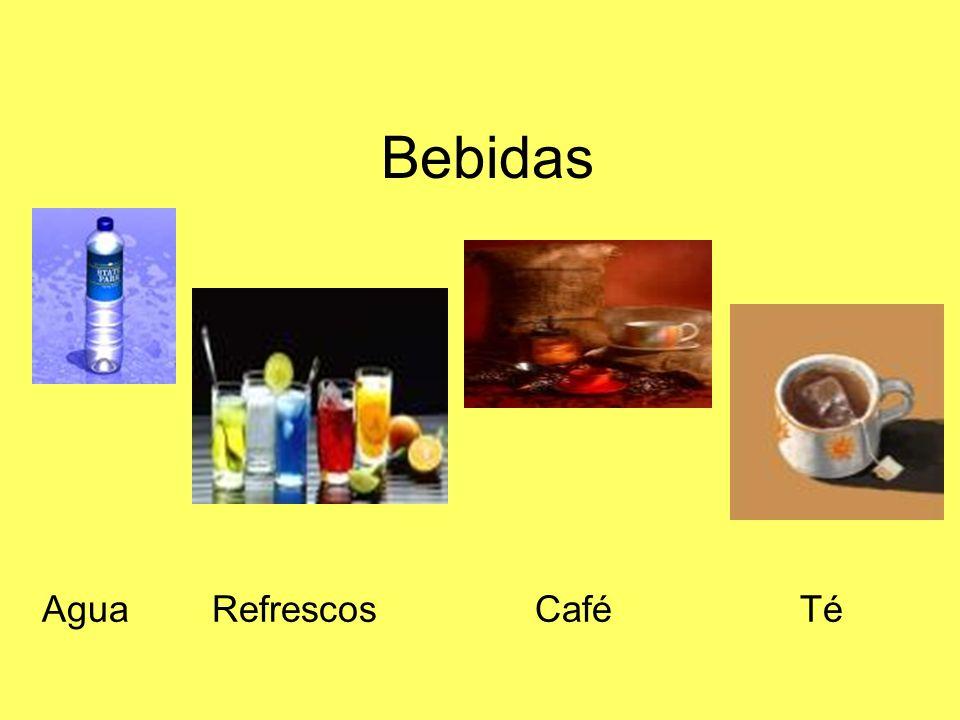 Bebidas Agua Refrescos Café Té