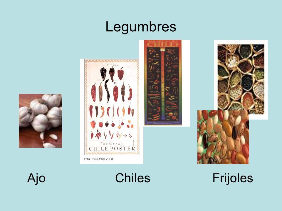 Legumbres Ajo Chiles Frijoles