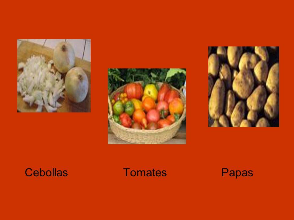 Cebollas Tomates Papas