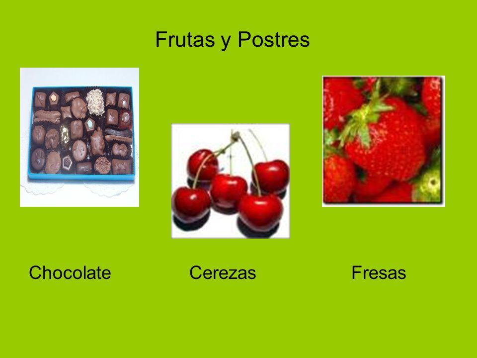 Chocolate Cerezas Fresas Frutas y Postres