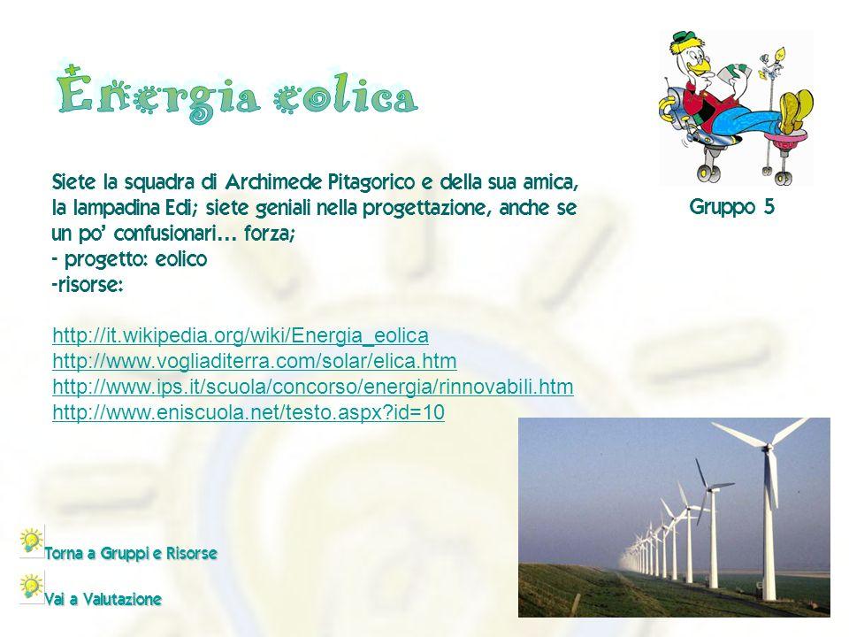 - http://it.wikipedia.org/wiki/Energia_eolica http://www.vogliaditerra.com/solar/elica.htm http://www.ips.it/scuola/concorso/energia/rinnovabili.htm h