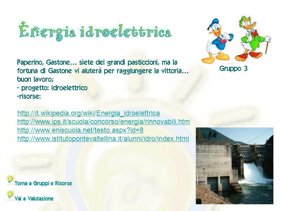 - http://it.wikipedia.org/wiki/Energia_idroelettrica http://www.ips.it/scuola/concorso/energia/rinnovabili.htm http://www.eniscuola.net/testo.aspx?id=8 http://www.istitutopontevaltellina.it/alunni/idro/index.html