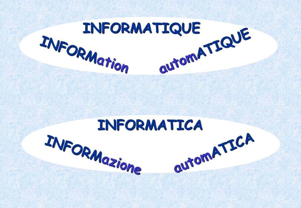 INFORMATIQUE INFORMation automATIQUE INFORMATICA INFORMazione automATICA