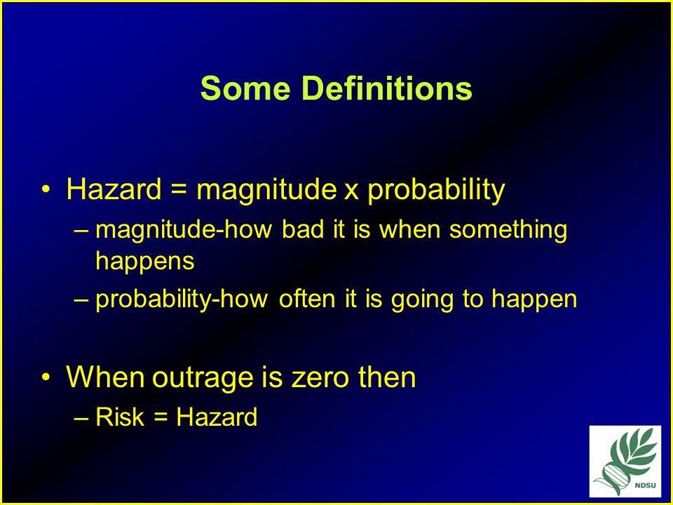 Social Concepts of Risk Dr. Peter Sandman Risk = Hazard + Outrage