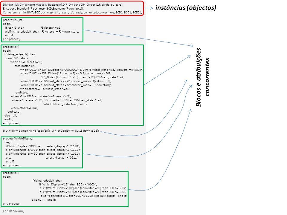 entity BinToBCD is Port ( clk : in STD_LOGIC; reset : in STD_LOGIC; start : in std_logic; ready, converted : out STD_LOGIC; binary : in STD_LOGIC_VECTOR (7 downto 0); BCD2 : out STD_LOGIC_VECTOR (3 downto 0); BCD1 : out STD_LOGIC_VECTOR (3 downto 0); BCD0 : out STD_LOGIC_VECTOR (3 downto 0)); end BinToBCD; architecture Behavioral of BinToBCD is type state is (idle, op, done); signal c_s, n_s : state; signal tempC_V, tempN_V : STD_LOGIC_VECTOR (7 downto 0); signal BCD2_c, BCD1_c, BCD0_c, BCD2_n, BCD1_n, BCD0_n : unsigned(3 downto 0); signal BCD2_tmp, BCD1_tmp, BCD0_tmp : unsigned(3 downto 0); signal int_rg_c, int_rg_n : STD_LOGIC_VECTOR (7 downto 0); signal index_c, index_n : unsigned(3 downto 0); begin