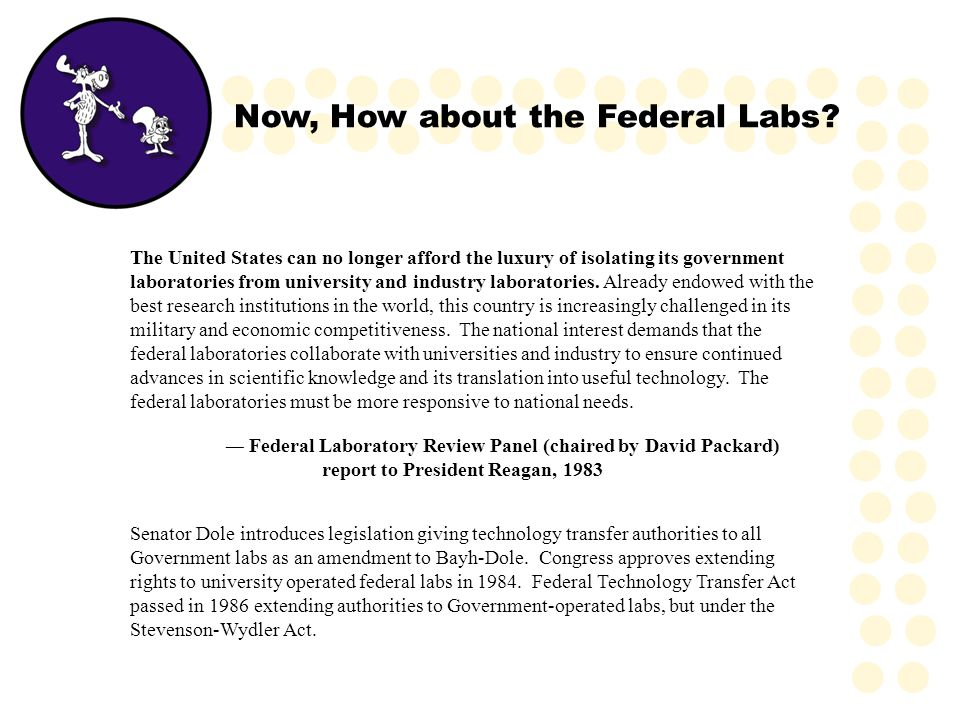 Now, How about the Federal Labs? The United States can no longer afford the luxury of isolating its government laboratories from university and indust
