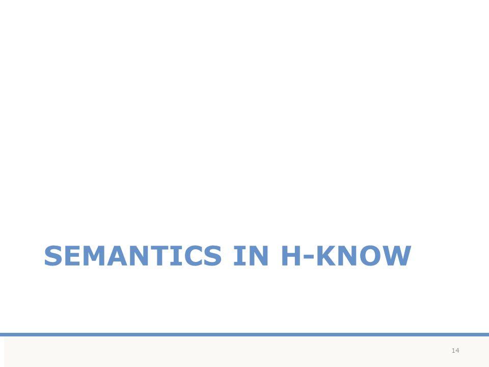 SEMANTICS IN H-KNOW 14