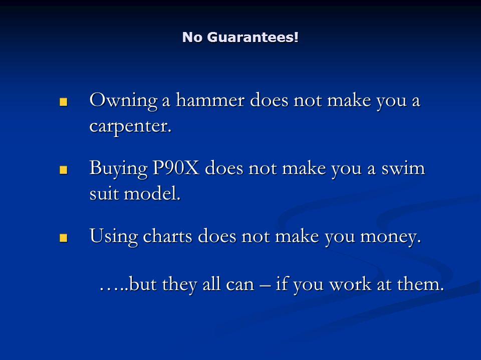 No Guarantees. Owning a hammer does not make you a carpenter.