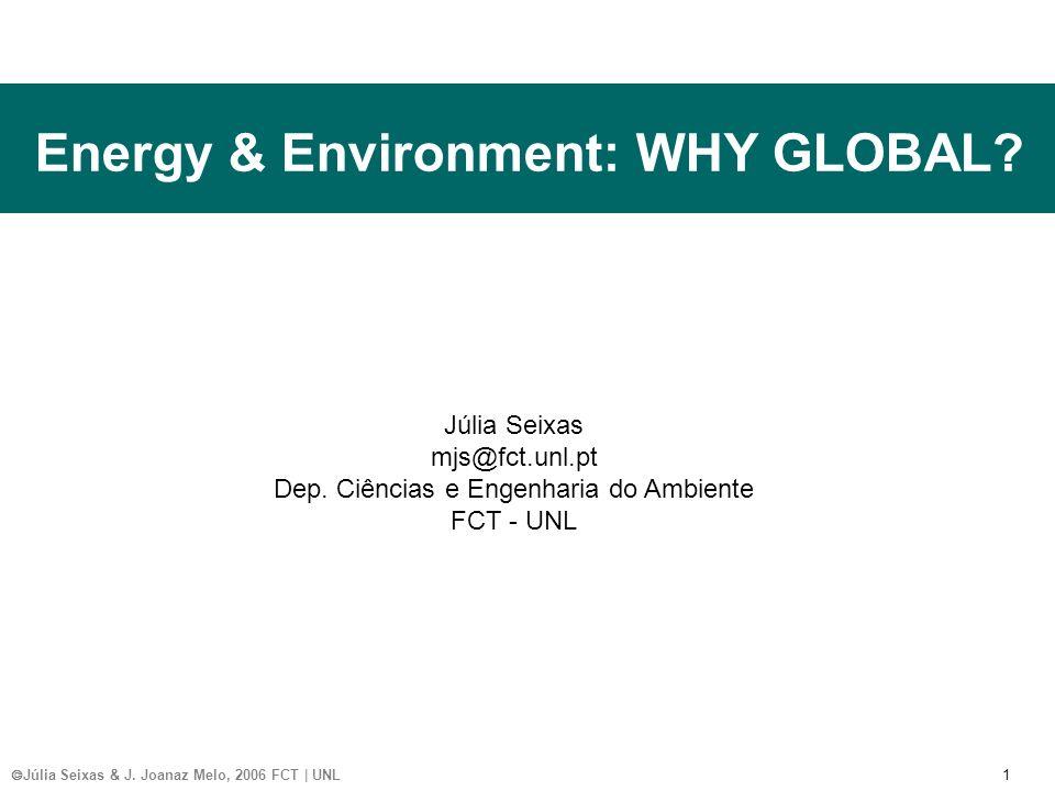 Júlia Seixas & J. Joanaz Melo, 2006 FCT | UNL 1 Energy & Environment: WHY GLOBAL.