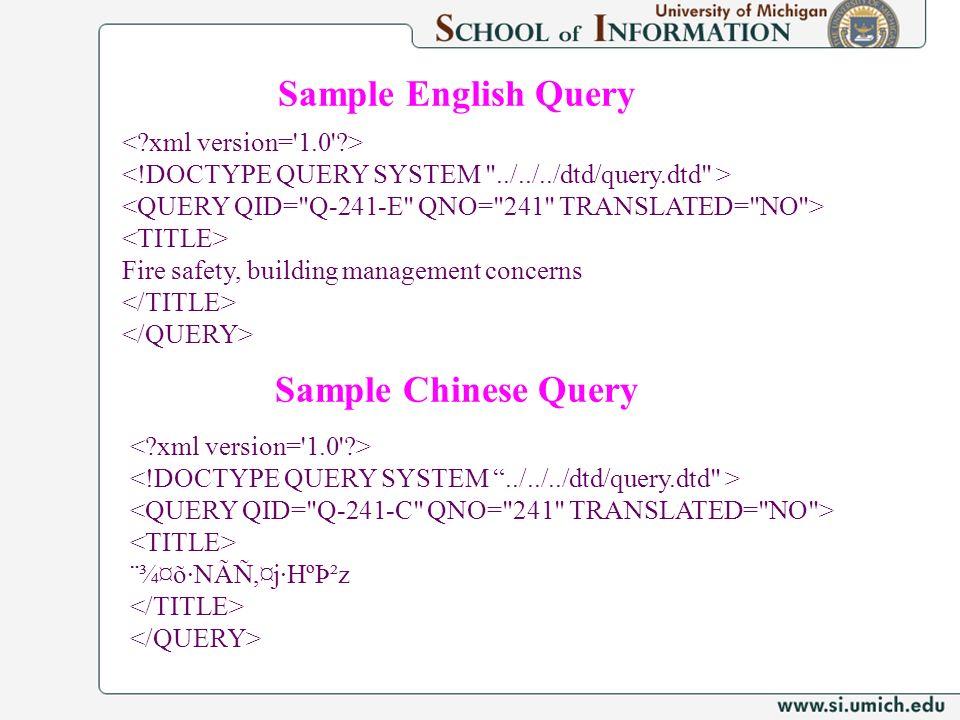 Fire safety, building management concerns ¨¾¤õ·NÃÑ,¤j·HºÞ²z Sample Chinese Query Sample English Query