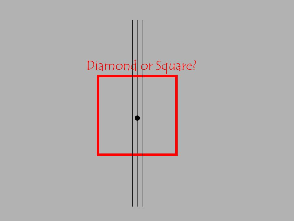 Diamond or Square?