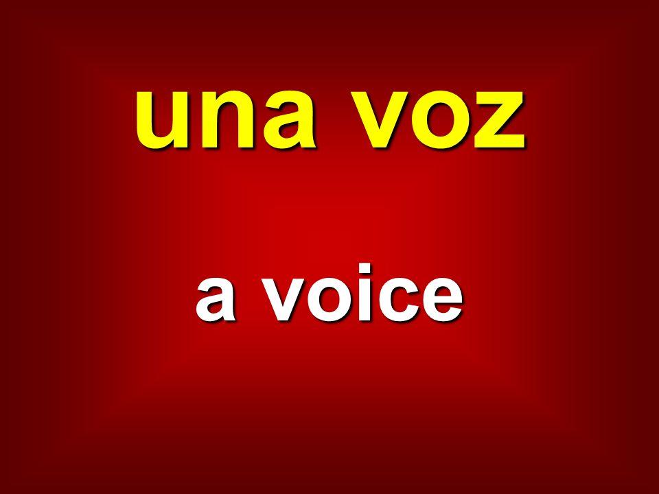una voz a voice