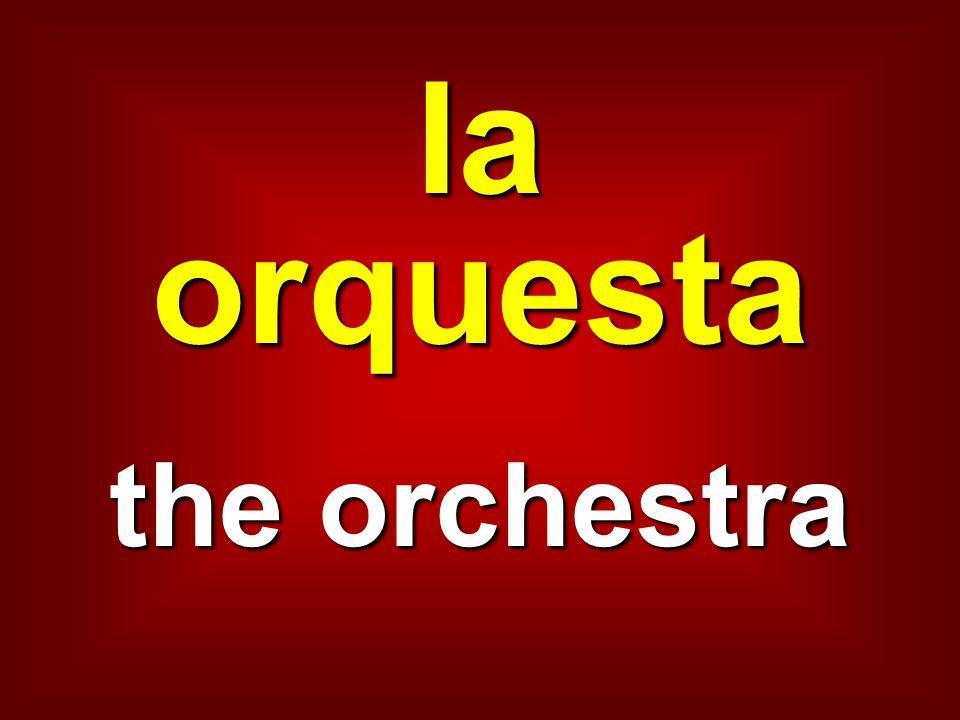 la orquesta the orchestra