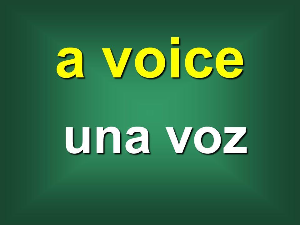 a voice una voz