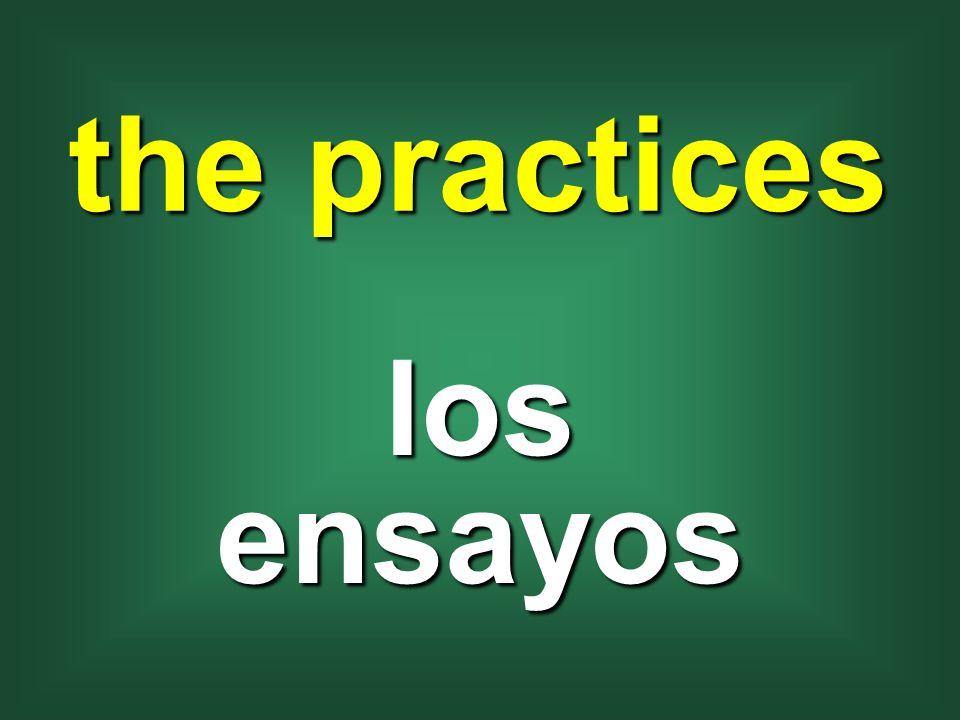 the practices los ensayos