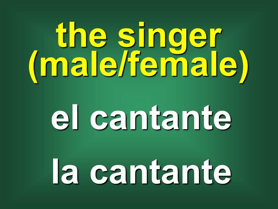 the singer (male/female) el cantante la cantante