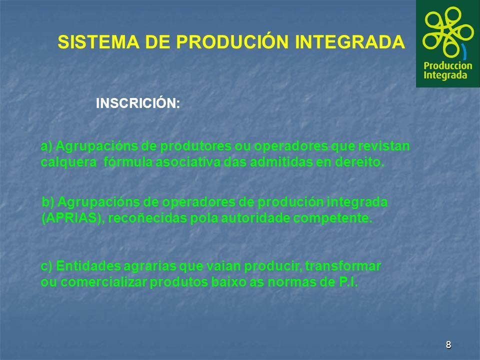 8 c) Entidades agrarias que vaian producir, transformar ou comercializar produtos baixo as normas de P.I.