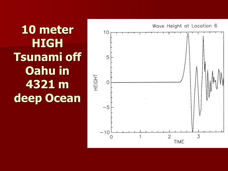 10 meter HIGH Tsunami off Oahu in 4321 m deep Ocean