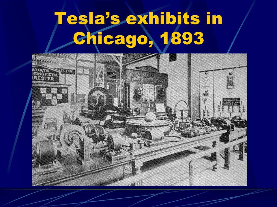 Teslas exhibits in Chicago, 1893