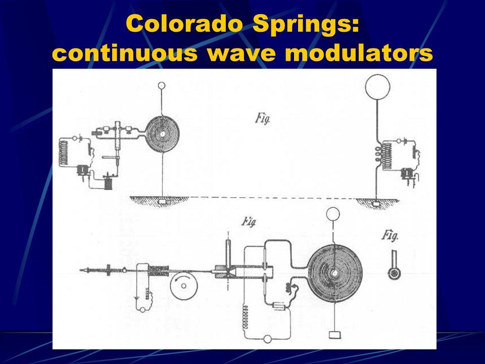 Colorado Springs: continuous wave modulators