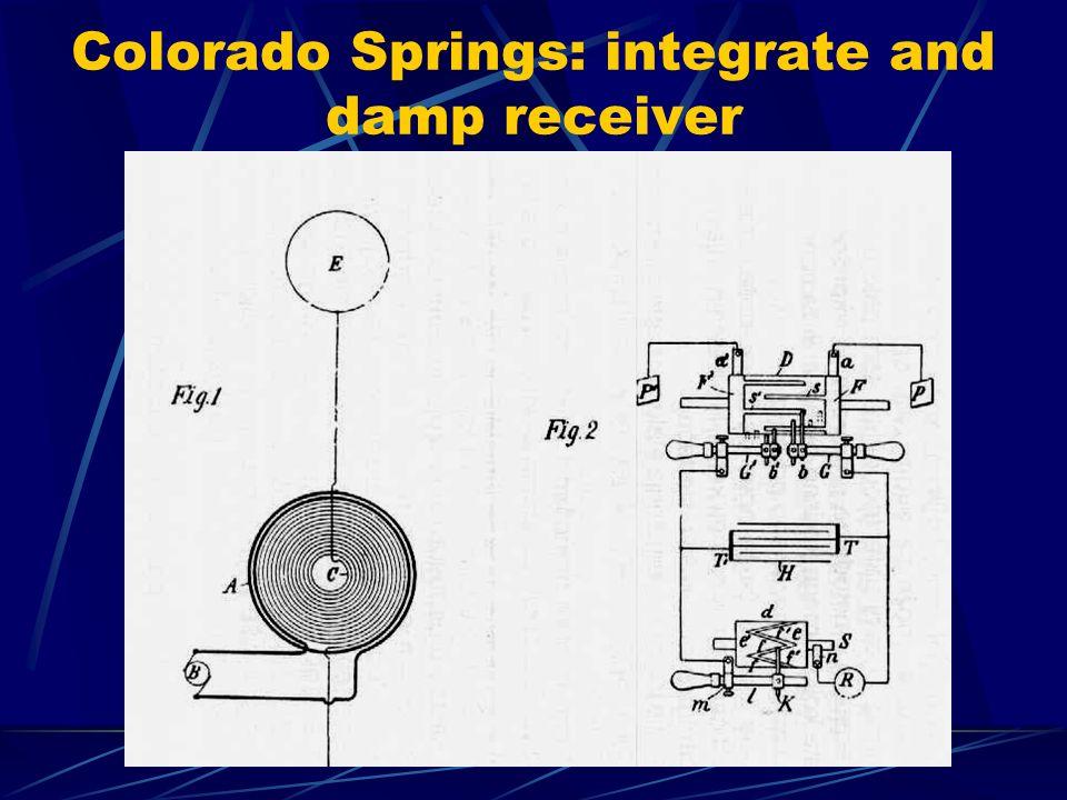 Colorado Springs: integrate and damp receiver
