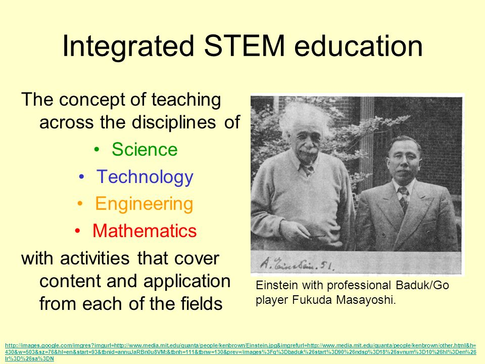 Integrated STEM education The concept of teaching across the disciplines of Science Technology Engineering Mathematics with activities that cover cont