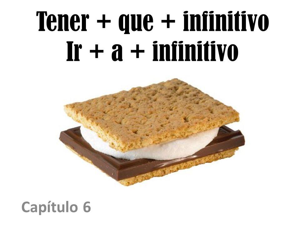 Tener + que + infinitivo Ir + a + infinitivo Capítulo 6