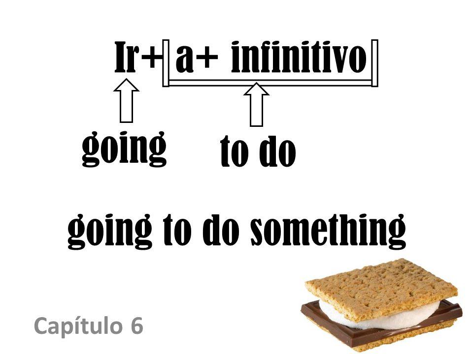 Ir+ a+ infinitivo Capítulo 6 going to do something going to do