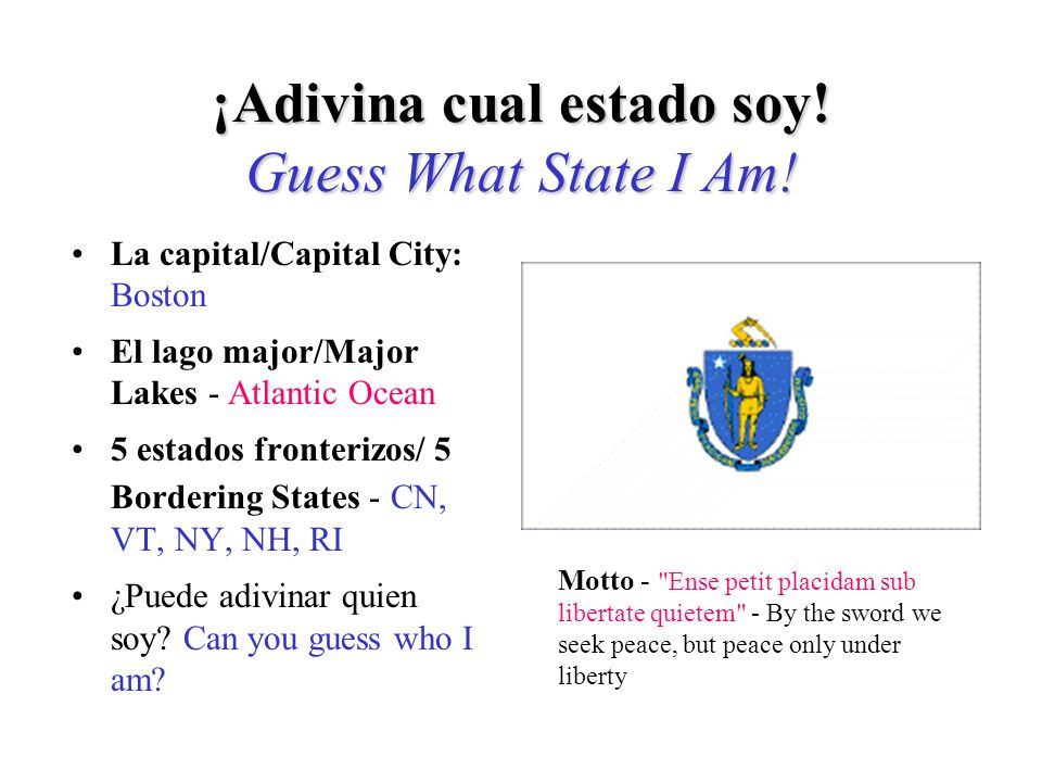 Si adivinó Maryland, ¡Adivinó bien! If you guessed Maryland, you are right!