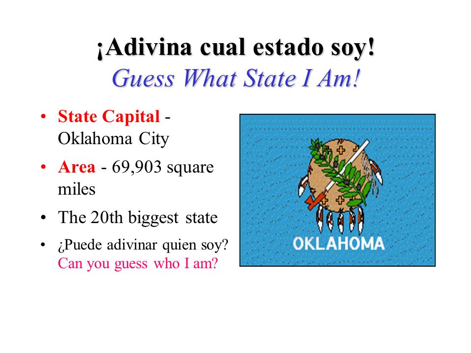 Si adivinó Ohio, ¡Adivinó bien! If you guessed Ohio, you are right!