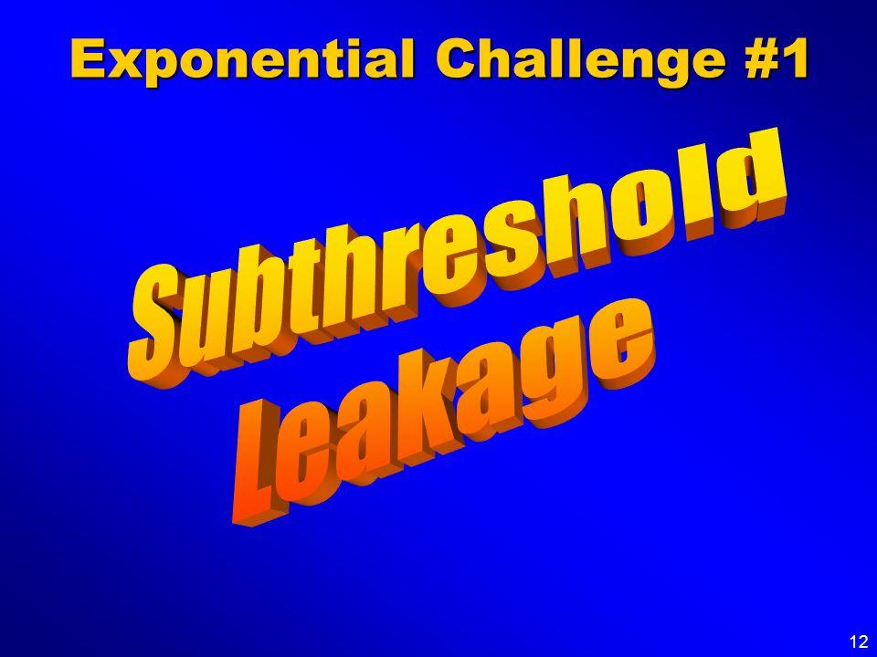 12 Exponential Challenge #1