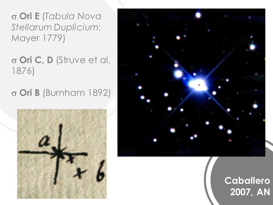 Caballero 2007, AN Ori E (Tabula Nova Stellarum Duplicium: Mayer 1779) Ori C, D (Struve et al.