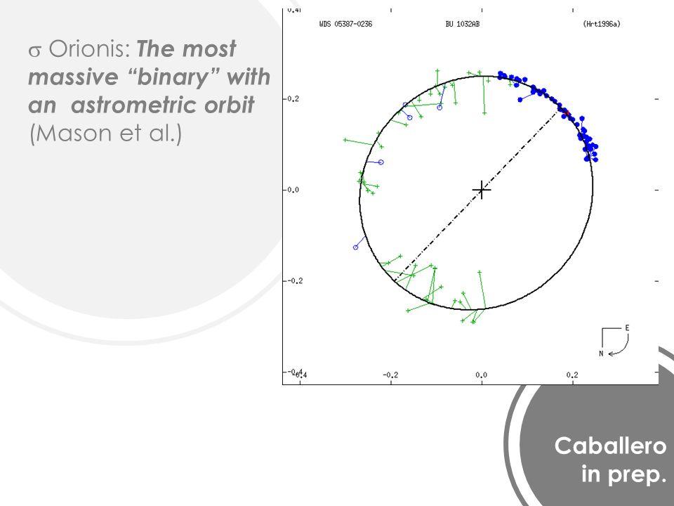 Caballero in prep. Orionis: The most massive binary with an astrometric orbit (Mason et al.)