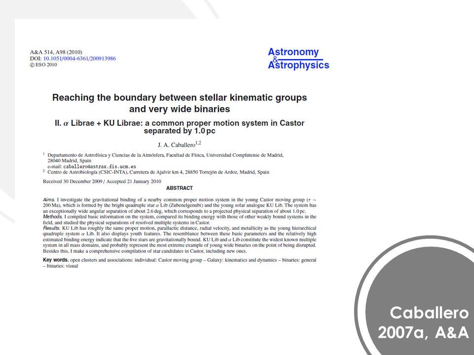 Caballero 2007a, A&A