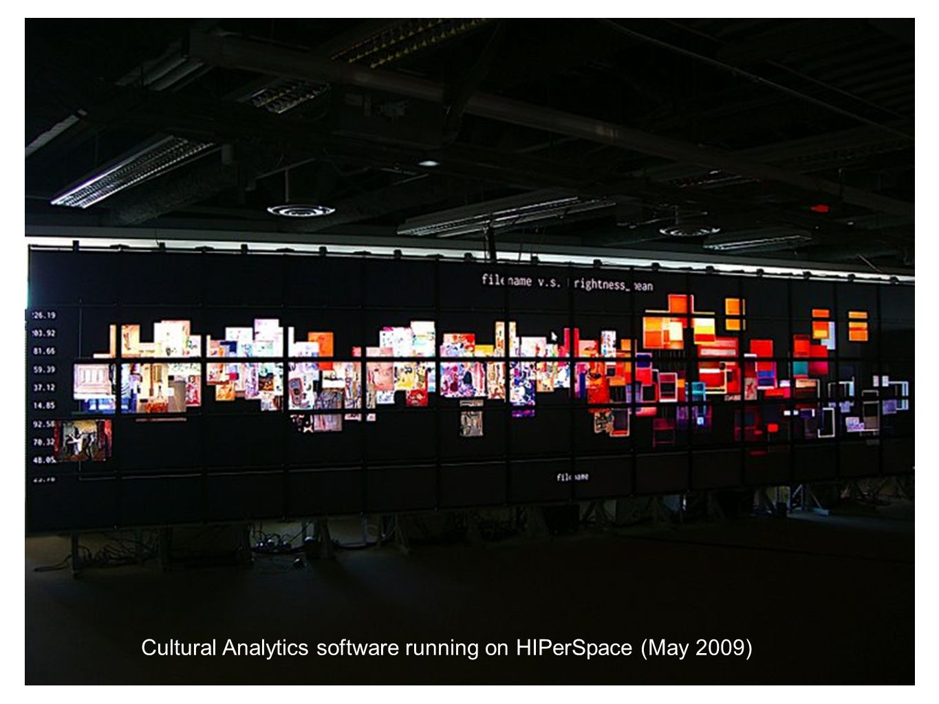 Cultural Analytics software running on HIPerSpace (May 2009)
