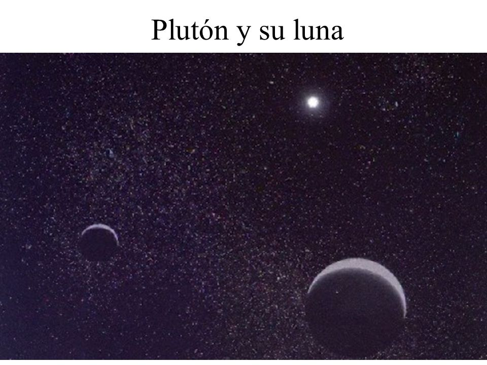 Plutón y su luna