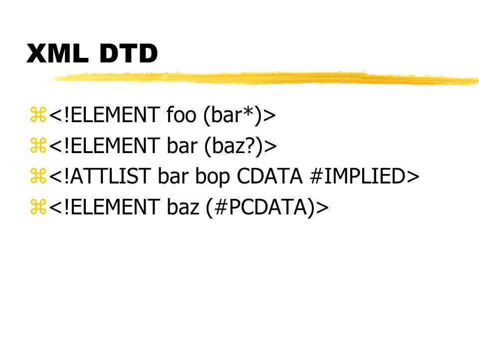 XML DTD z