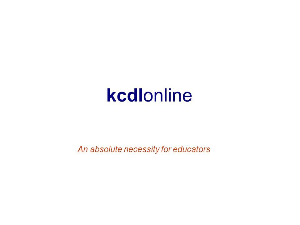 kcdlonline An absolute necessity for educators