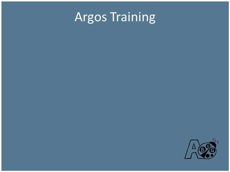 Argos Training