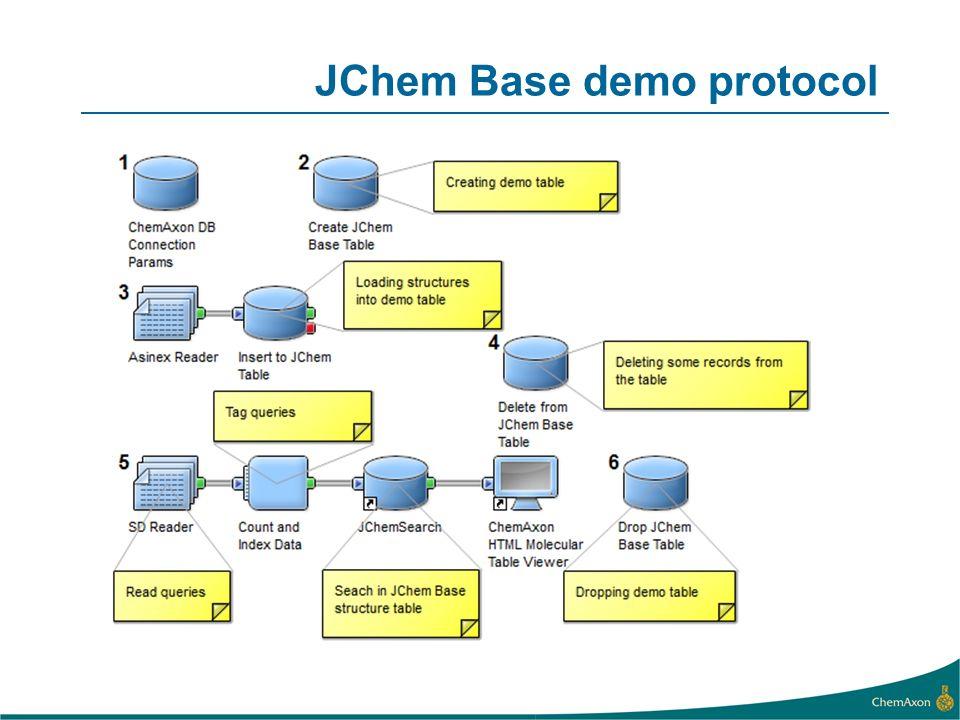 JChem Base demo protocol