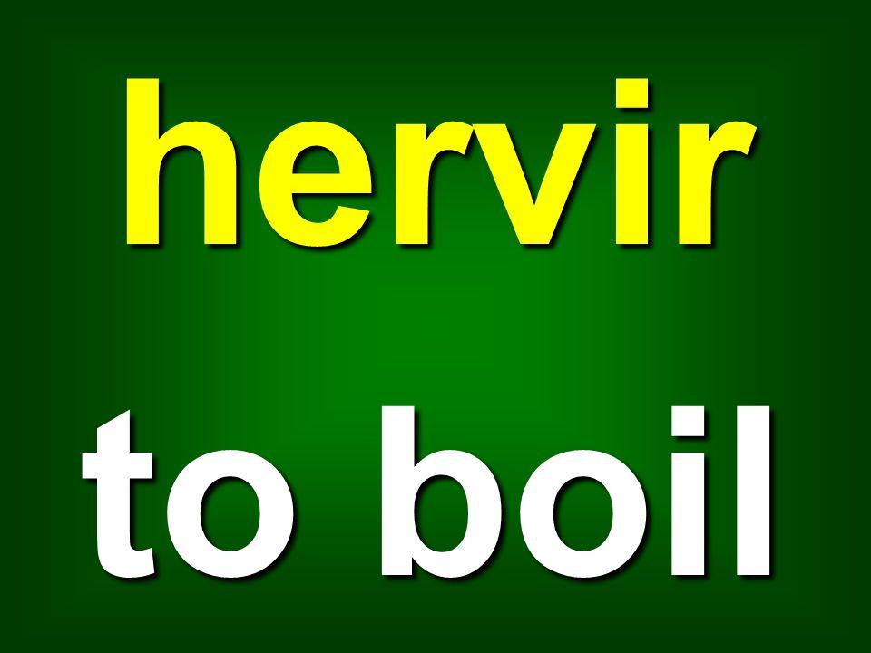 hervir to boil